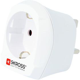 SKROSS Country - Prise de courant - prise sécurisée UK blanc